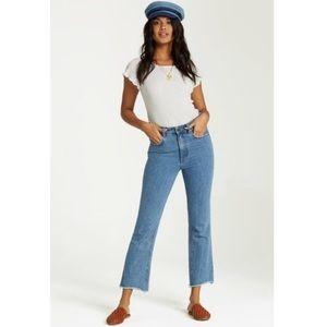 Billabong Nature Calls High Waist Crop Flare Jeans